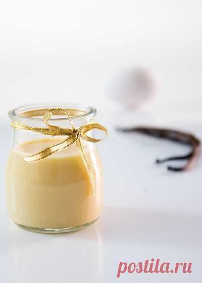 Самый простой заварной крем классический французский соус или Creme Anglaise.