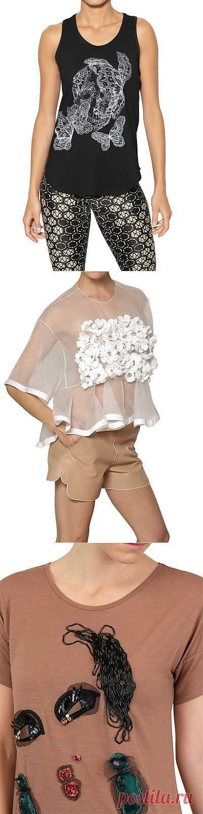 Майки, топы, футболки (подборка) / Декор / Модный сайт о стильной переделке одежды и интерьера