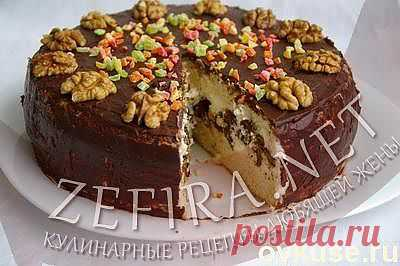 """Торт с суфле """"Нежный поцелуй."""" - Простые рецепты Овкусе.ру"""