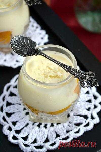 """Десерт а-ля """"Тирамису"""" с персиками - кулинарный рецепт"""