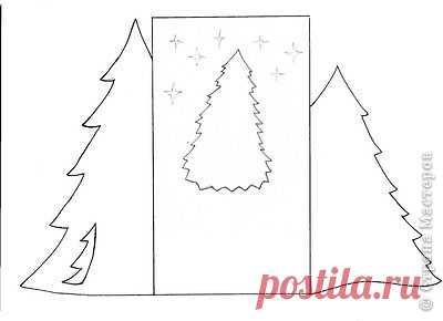 Шаблоны для новогодних открыток елки