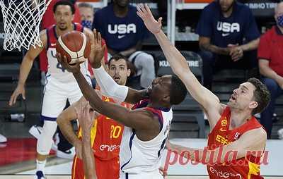 Сборная США по баскетболу обыграла команду Испании в последнем матче перед Олимпиадой. Встреча завершилась со счетом 83:76