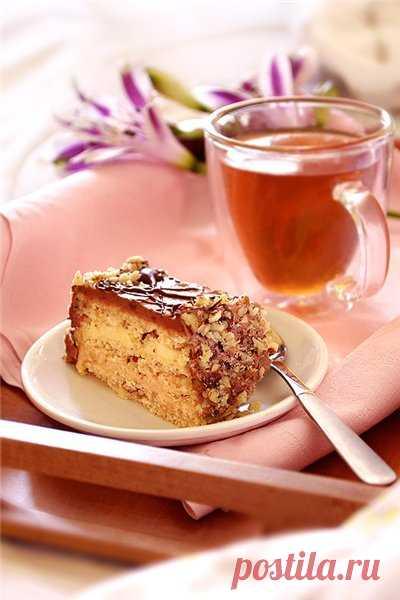 Торт с кофейной, лимонной и шоколадной начинками - Pan Fairy