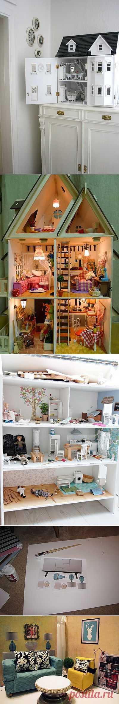 1 часть. Самодельные кукольные домики и способы их оформления..
