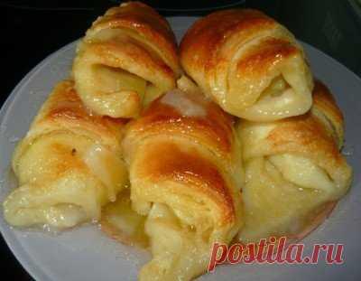 Слойки со спрайтом и яблоками «Язык проглотишь» - Сладкие пироги и кексы