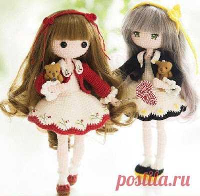 1000 схем амигуруми на русском: Вязаная кукла Мора