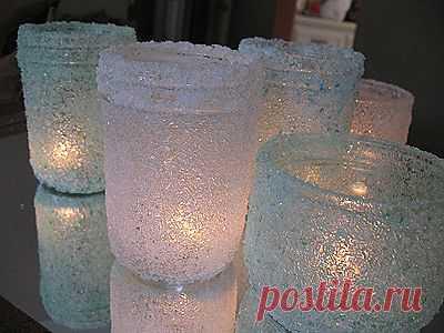 Великолепные подсвечники из...соли! Просто и красиво!.
