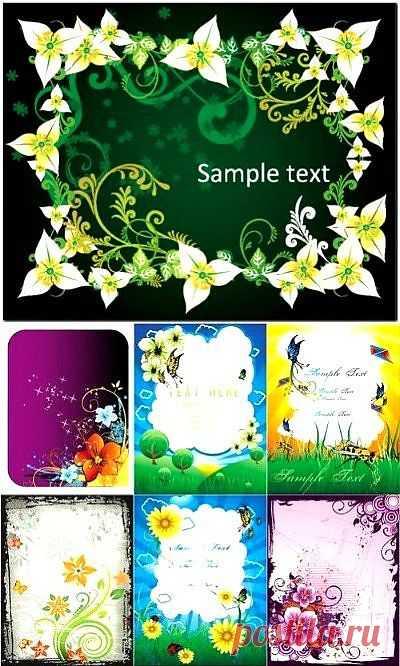 """Pамки в векторе """"Весна   Spring Floral Frames Vector"""" » RandL.ru - Все о графике, photoshop и дизайне. Скачать бесплатно photoshop, фото, картинки, обои, рисунки, иконки, клипарты, шаблоны."""