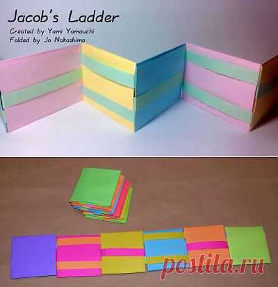 Лестница Якоба - фокус (иллюзия) из бумаги. ПОСМОТРИТЕ КАК ЭТО РАБОТАЕТ. ВКЛЮЧИТЕ ВИДЕО НА ПЕРВЫХ СЕКУНДАХ .