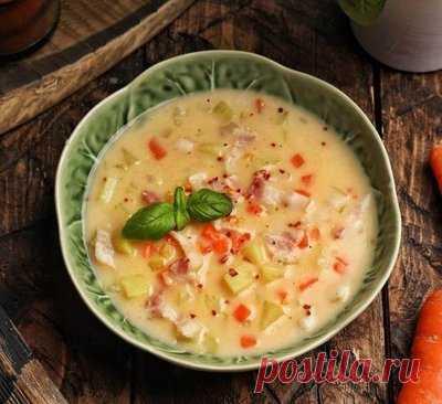 Сливочный суп с беконом и картофелем - Первые блюда