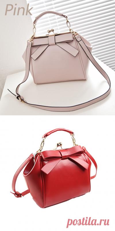 d624e54eeb30 Zhierna 2017 женщин лук плеча сумки сумка Красный из искусственной кожи  Crossbody сумка для женщин модные