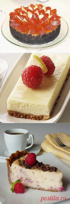 Чизкейки: шоколадный,ванильный, карамельный, малиновый.