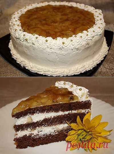 Шоколадно-банановый торт | Вкусный блог - рецепты под настроение
