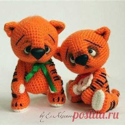 1000 схем амигуруми на русском: Тигренок амигуруми крючком