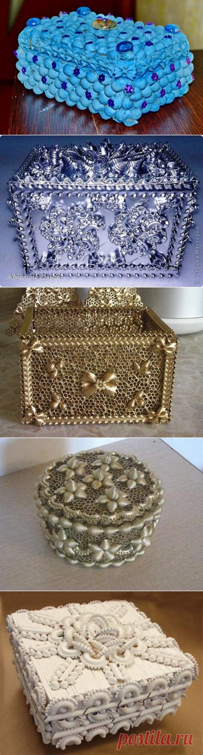 Шкатулка из макарон