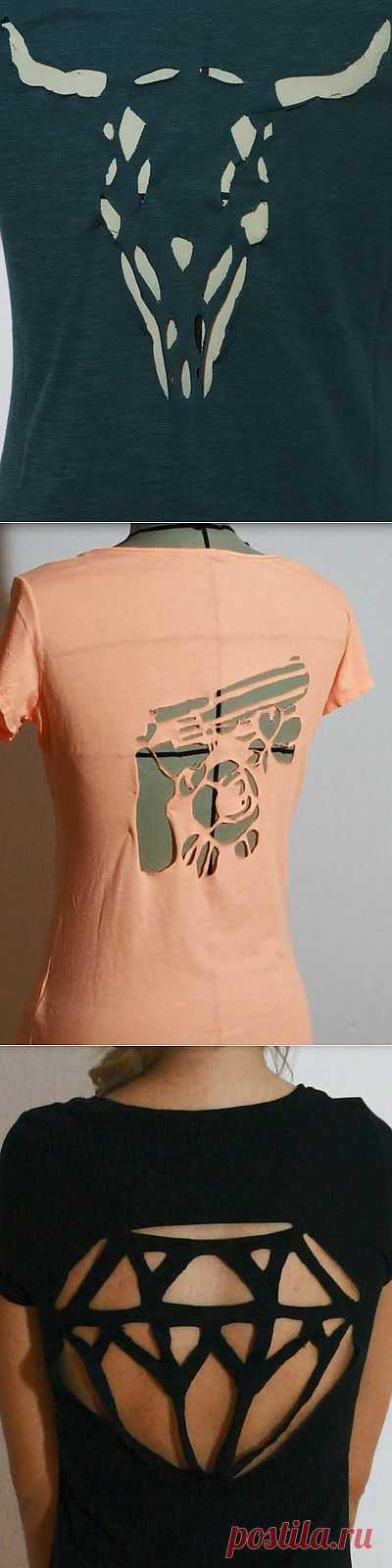 Шаблоны для прорезей на одежде (DIY) / Прорези / Модный сайт о стильной переделке одежды и интерьера