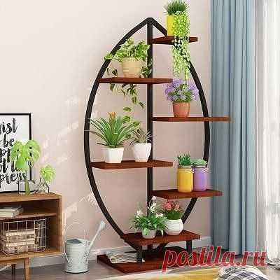 Идеи создания необычных стеллажей для цветов и книг