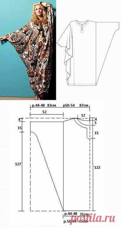 Платье-балахон для полных: выкройки   Дама