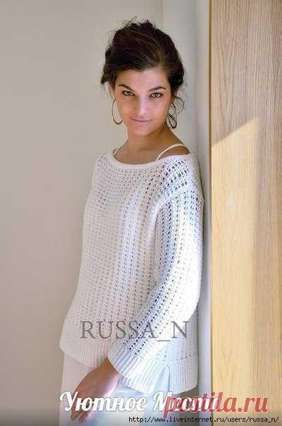 Пуловер спицами от Ким