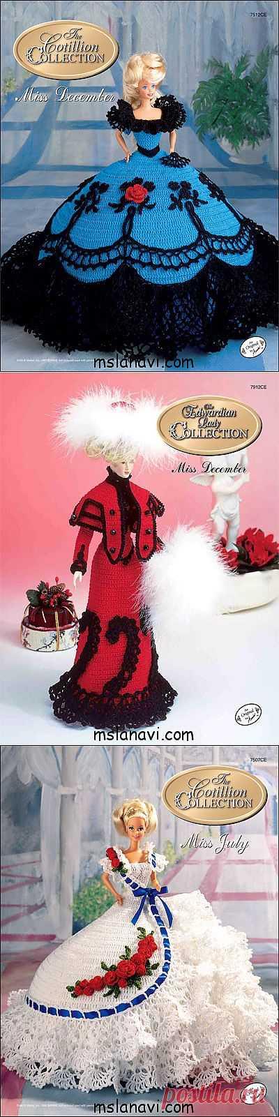 Платья для барби крючком от Annie's Society.