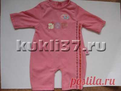 71bfd03471e Сшить комбинезон для куклы Baby Born из трикотажа