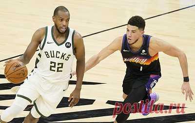 """""""Милуоки"""" обыграл """"Финикс"""" и впервые вышел вперед в финальной серии плей-офф НБА. """"Милуоки"""" повел в серии до четырех побед со счетом 3-2"""