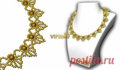 Красивое Ожерелье Из Бисера. 3Д Учебник Научимся делать красивые из бисера ожерелье с 3D учебник по ViPBiser
