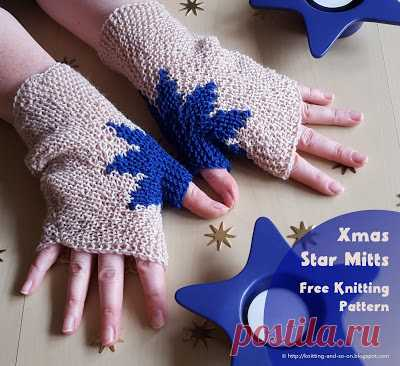 Knitting and so on: Xmas Star Mitts