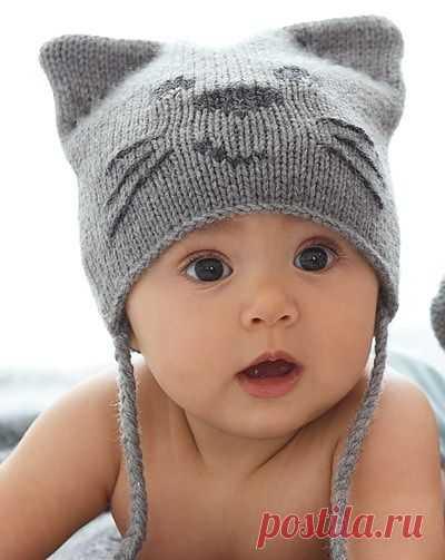 Детская шапочка спицами | ДОМОСЕДКА