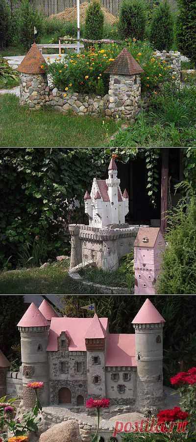 Декоративные мини-замки от Eleksys. Сделать декоративный мини-замок своими руками для украшения садового участка можно! Это доказал своими потрясающими работами Eleksys, который построил уже не один потрясающей красоты замок!