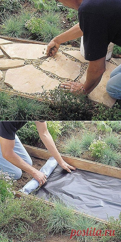 Как сделать дорожку из натурального камня — Сделай сам, идеи для творчества - DIY Ideas