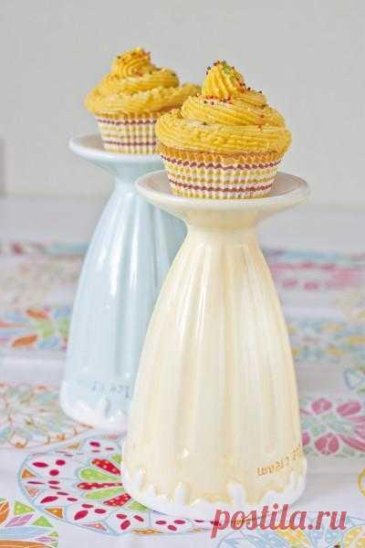 В желтом цвете: Лимонно-имбирные CupCake с белым шоколадом