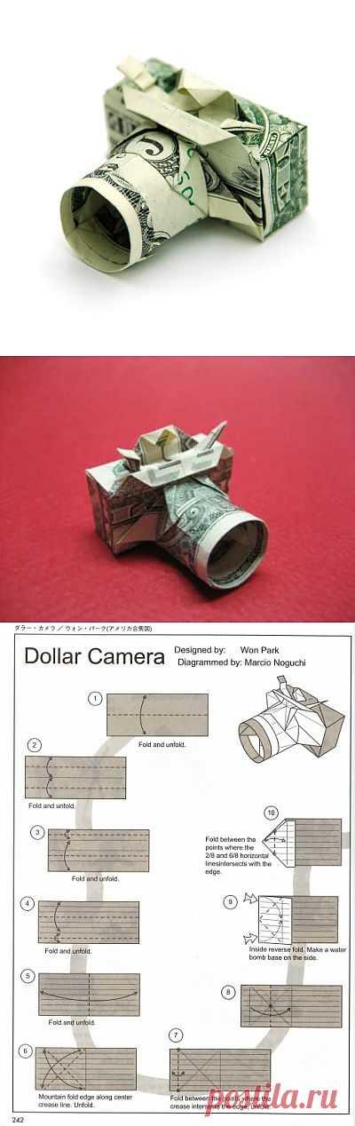 Оригами фотоаппарат по схеме Won Park