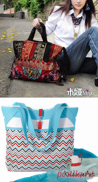 ff2a5206ee23 Как сшить сумку шоппер из ткани своими руками (выкройки)МК Видио ...