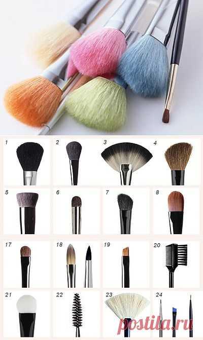 Кисти для макияжа и их описание   КРАСОТА И ЗДОРОВЬЕ