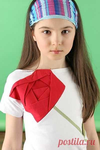 Роза - оригами / Для детей / Модный сайт о стильной переделке одежды и интерьера