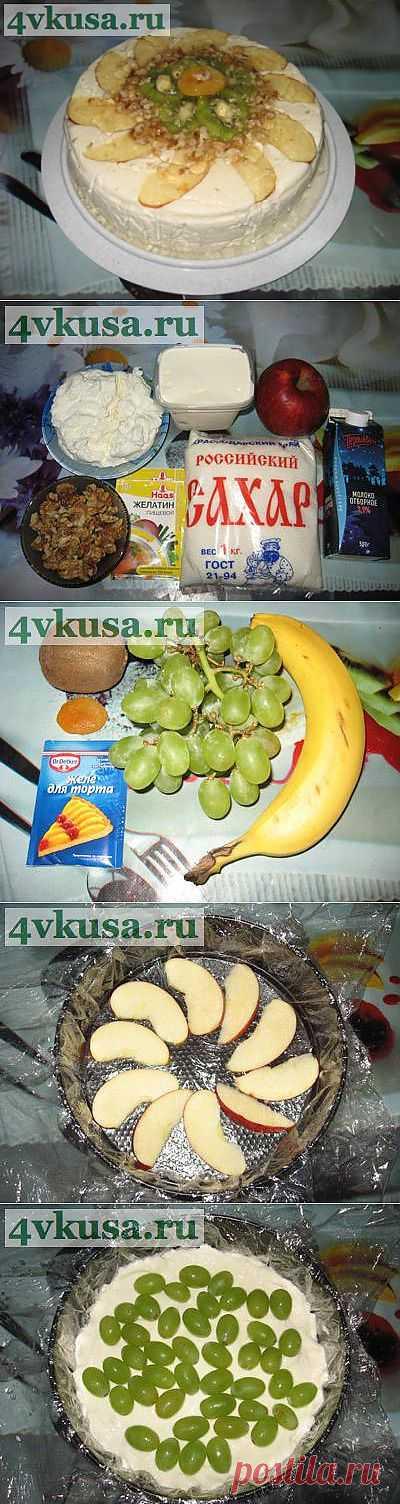 "Торт ""МОРОЗКО"" (торт без выпечки). Фоторецепт.   4vkusa.ru"