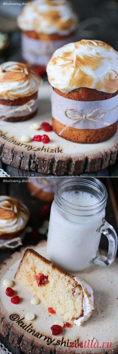 Готовимся к Пасхе: творожный кулич с вишней и белым шоколадом