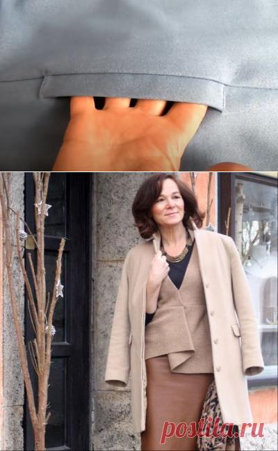 Простой способ обработки кармана в шве с листочкой (Шитье и крой) – Журнал Вдохновение Рукодельницы