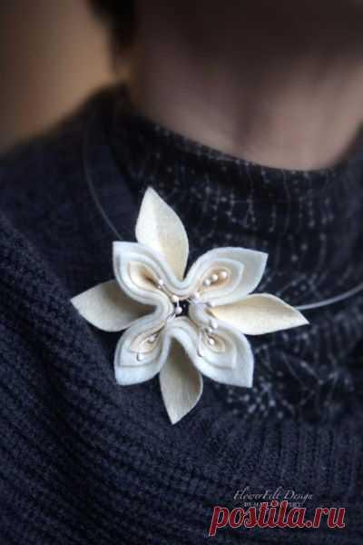Felt jewelry from Margo Hupert