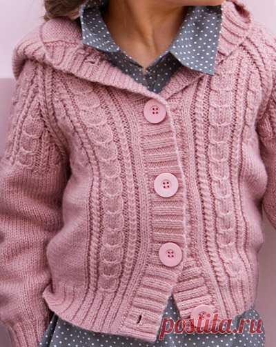 кофта с капюшоном спицами вязание для детей постила