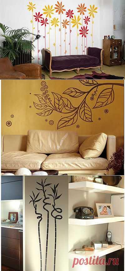 Растительные орнаменты на стенах | Дом-Цветник