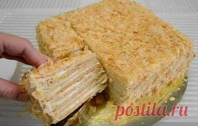 Торт Наполеон из готового слоеного теста - Торты и пирожные