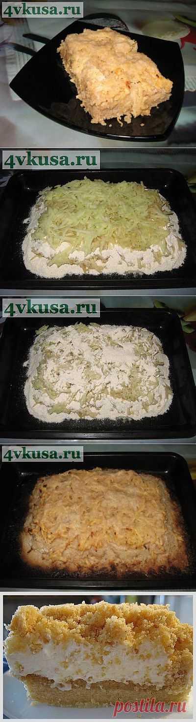 Яблочный пирог без яиц. Фоторецепт. | 4vkusa.ru