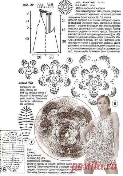 Голубое платье – Мир вязания и рукоделия