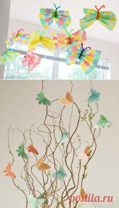 Поделки из бабочке: интересные идеи для игр с детьми или украшения дома