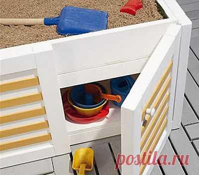 Детская песочница своими руками на балконе