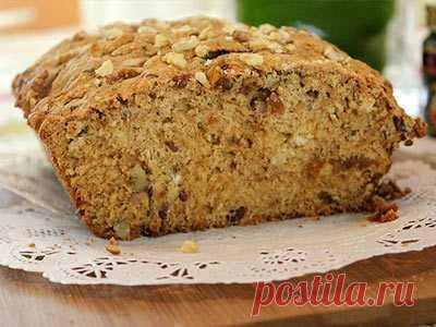 Хлеб с грецкими орехами и финиками