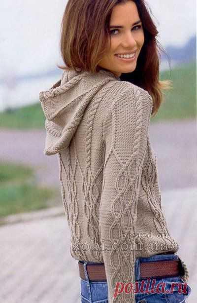 женские пуловеры и свитера вязаные крючком и спицами страница 12