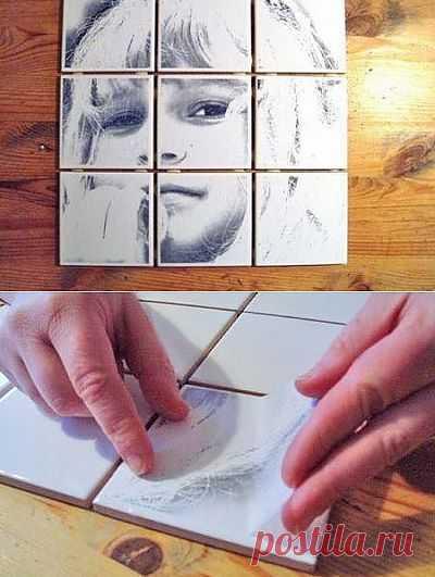 Как сделать картину на плитке в ванной или на кухне | My Milady